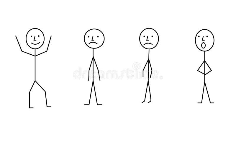 Kij postaci piktograma ludzie, różny posec obrazy stock