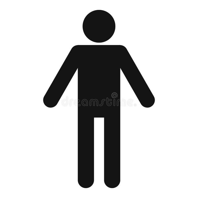 Kij postaci stickman ikony piktograma wektor prosty obraz stock