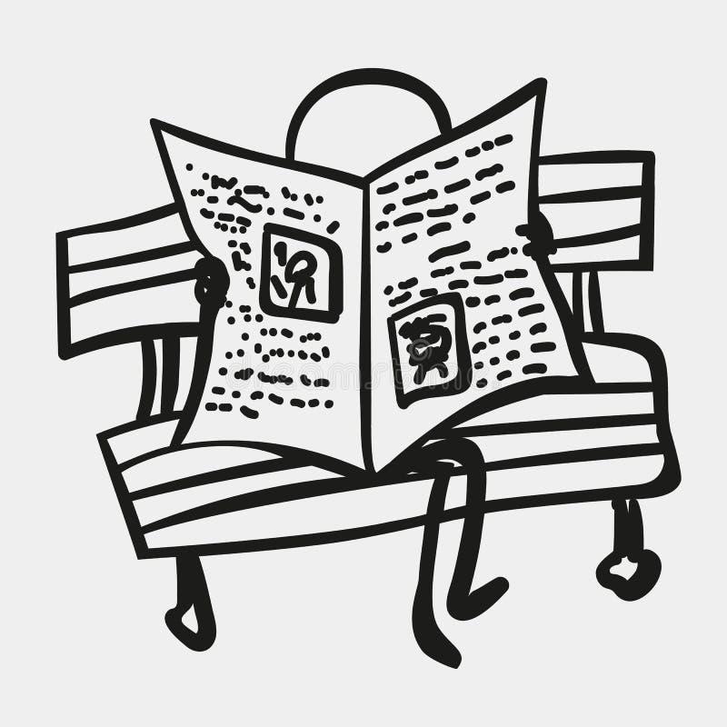 Kij postacie lub mężczyzna czytają gazetę fotografia royalty free