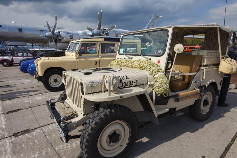 KIJ?W UKRAINA, MAJ, - 10, 2019: pojazd wojskowy USA si?y zbrojne obrazy stock