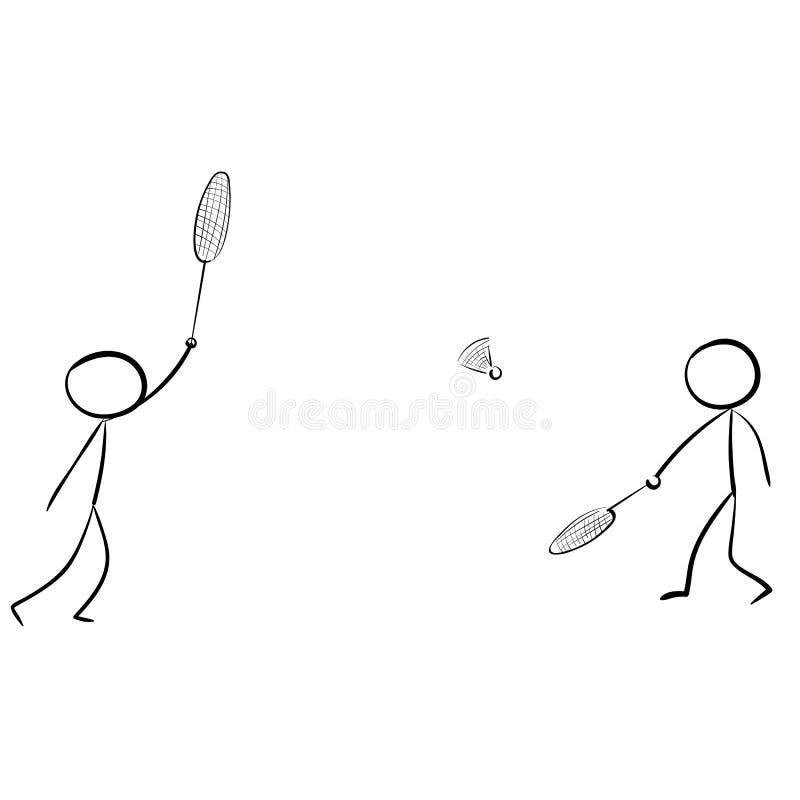 Kija Badminton przylądka sztuki ikony gemowy wektor obrazy stock