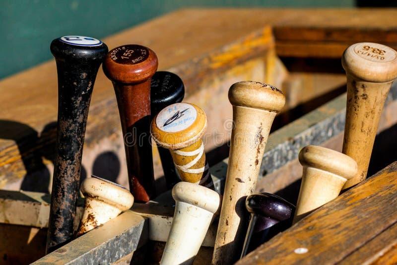 Kija Bejsbolowego stojak obrazy royalty free