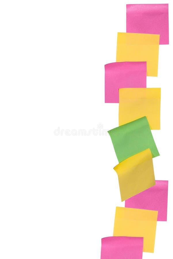 Kija nutowy papier na odosobnionym białym tle zdjęcie stock