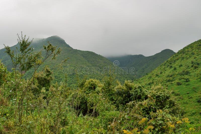 Kijabe wzgórza w kikuju Escarpment, Kenja zdjęcie stock