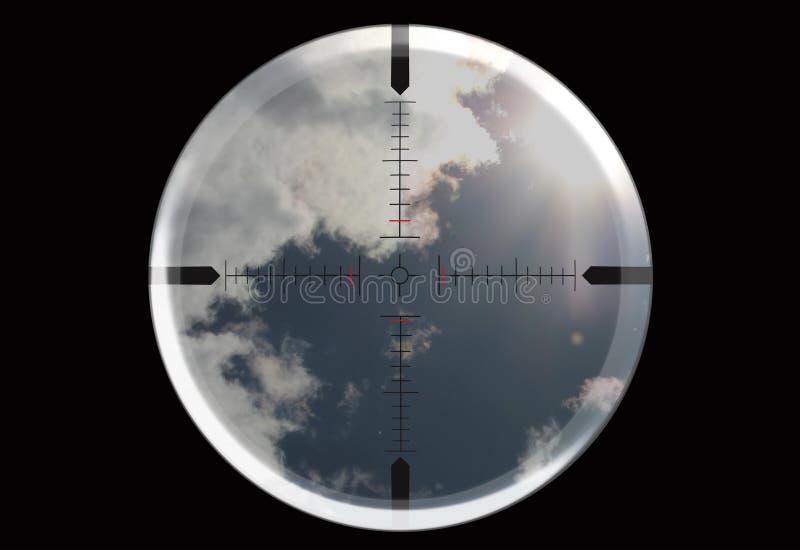 Kijk door het telescopische gezicht royalty-vrije illustratie