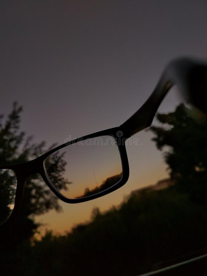 Kijk door mijn ogen stock afbeelding