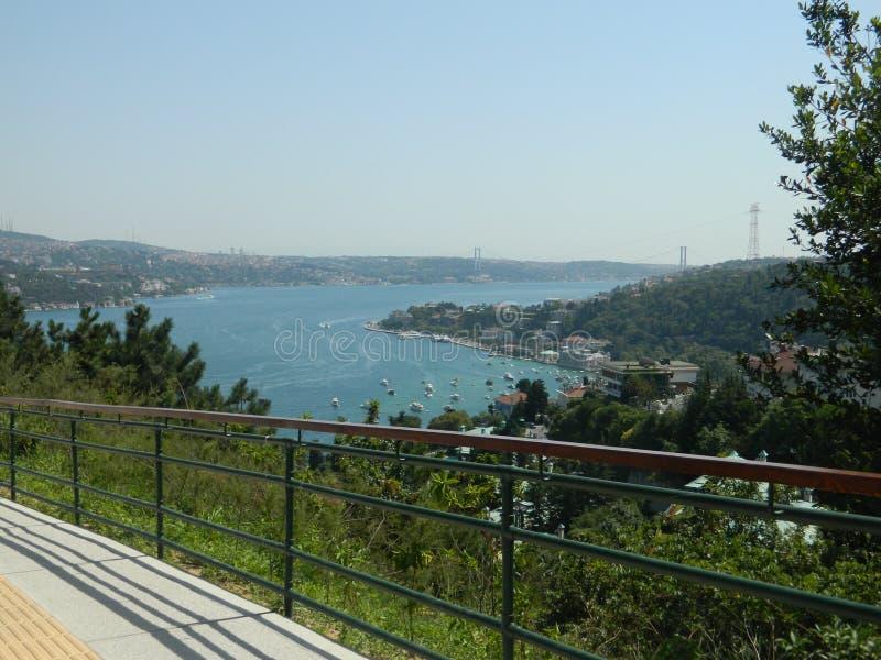 Kijk over Bosphorus royalty-vrije stock afbeeldingen