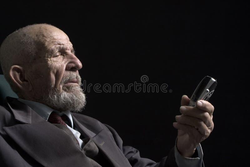 Kijk in telefoon royalty-vrije stock foto's