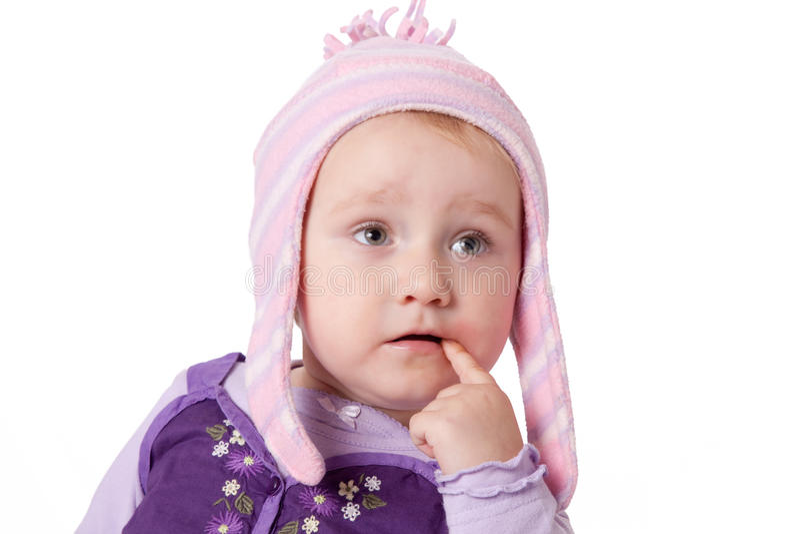 Kijkend baby royalty-vrije stock foto's