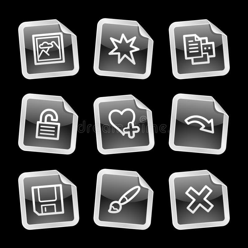 Kijker 2 van het beeld pictogrammen, sticker royalty-vrije illustratie