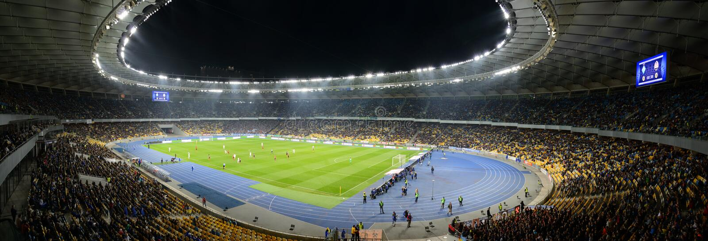 Kijowska piłki nożnej arena, panorama zdjęcie royalty free