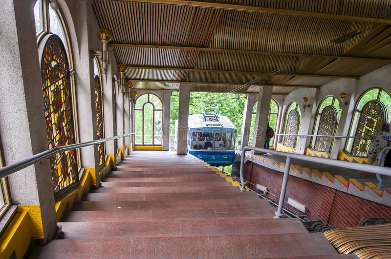 Kijowski Funicular cableway, Ukraina fotografia stock