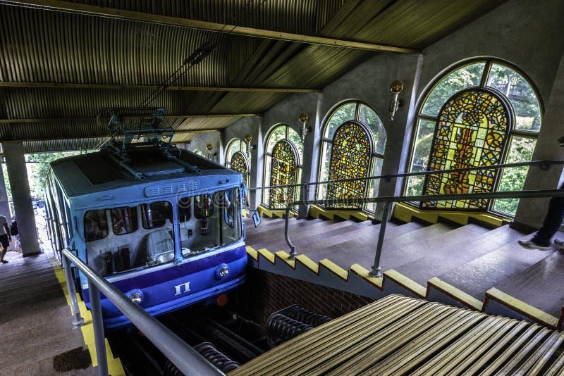 Kijowski Funicular, Ukraina obrazy royalty free