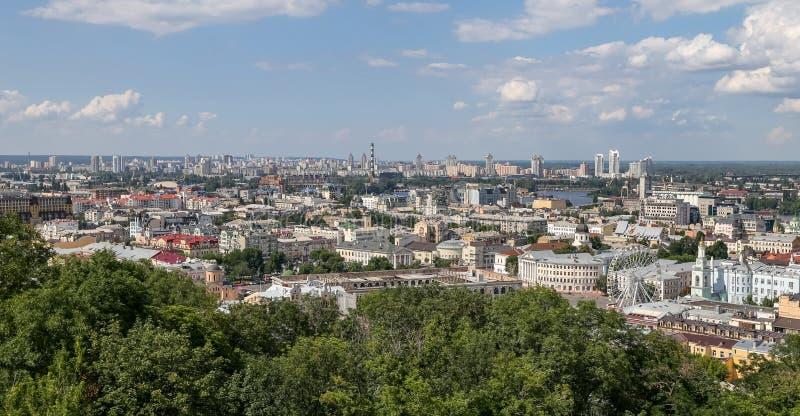 Kijowski miasto w Ukraina obraz stock