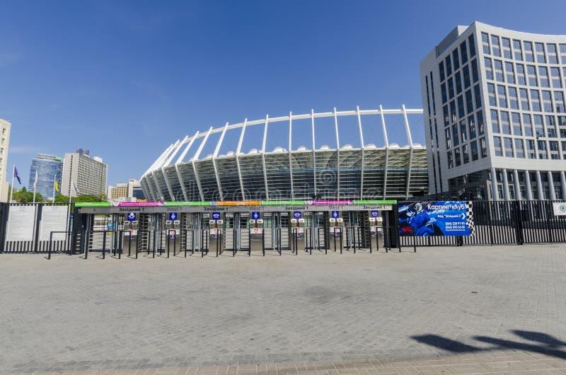 Kijowski Ukkaine. Stadion Futbolowy Olimpijski zdjęcie royalty free