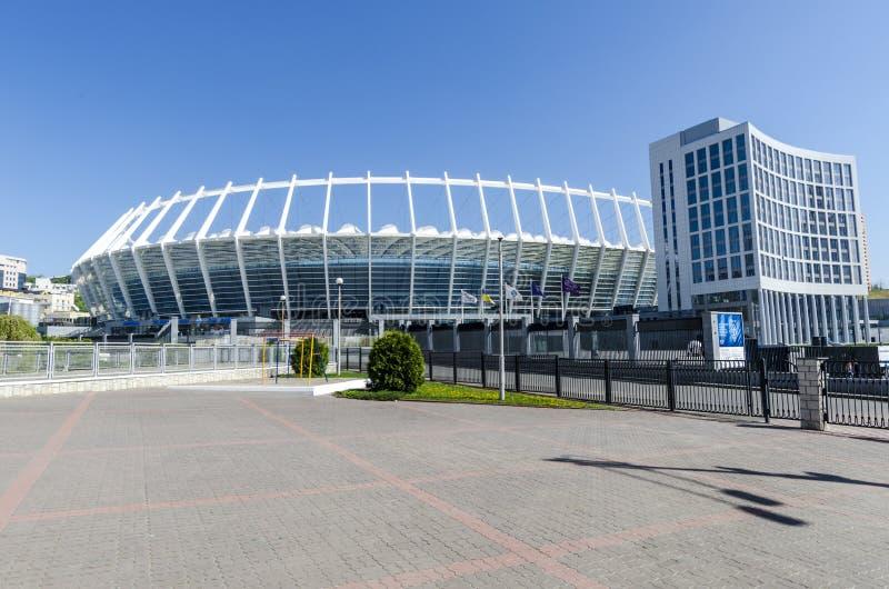 Kijowski Ukkaine. Stadion Futbolowy Olimpijski zdjęcie stock