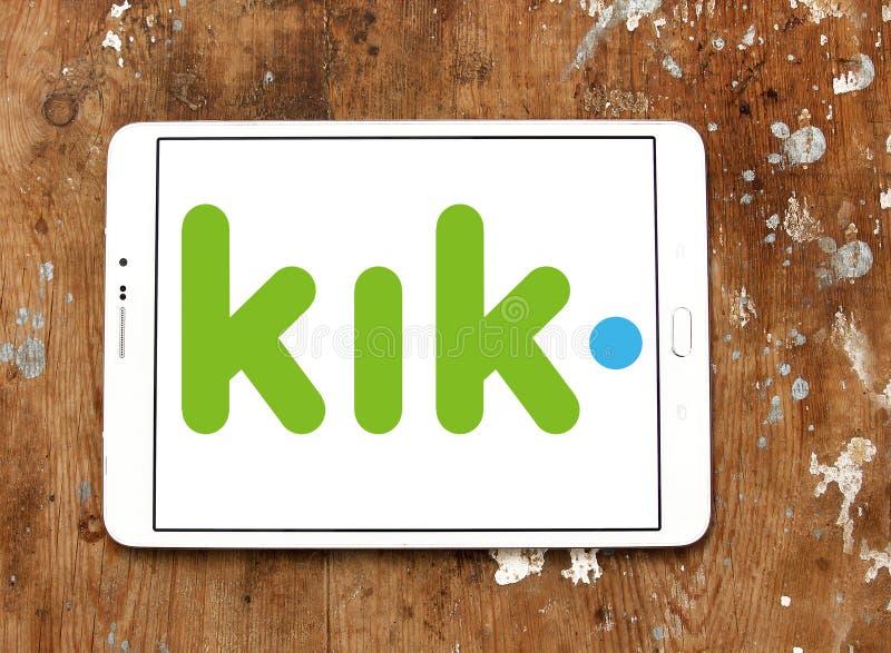 Kik-Botelogo lizenzfreie stockfotos