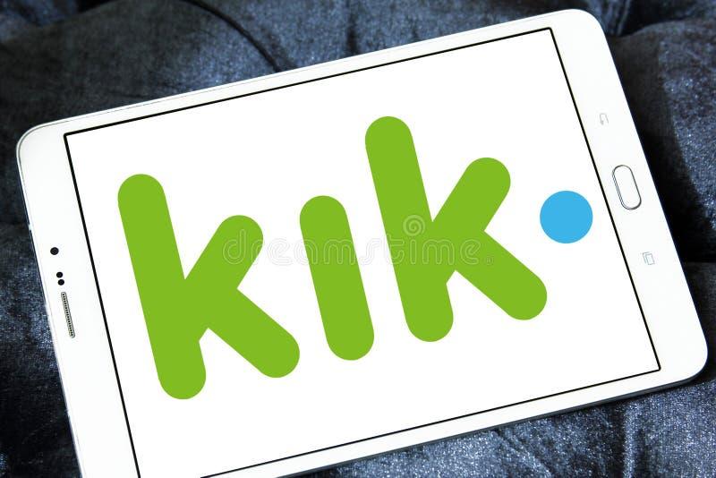 Kik-Botelogo lizenzfreie stockfotografie