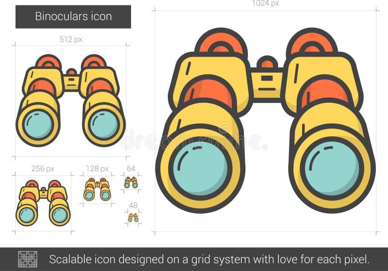 Kikarelinje symbol vektor illustrationer