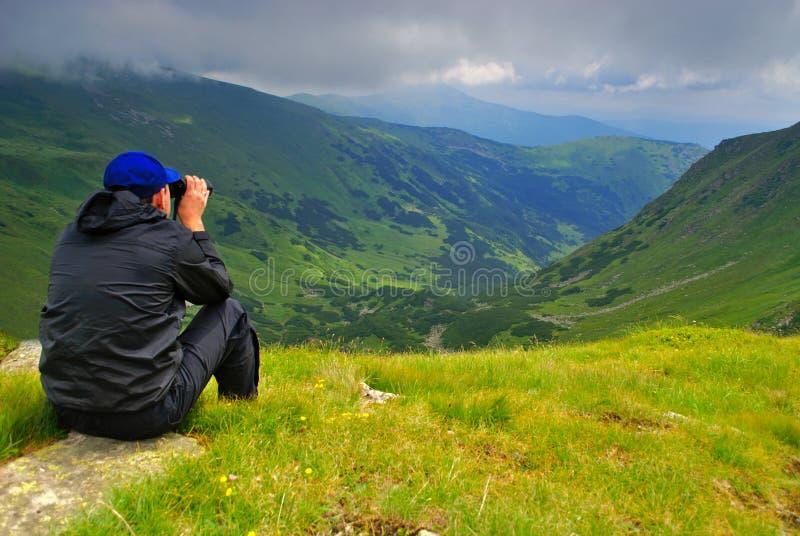 kikareman fotografering för bildbyråer