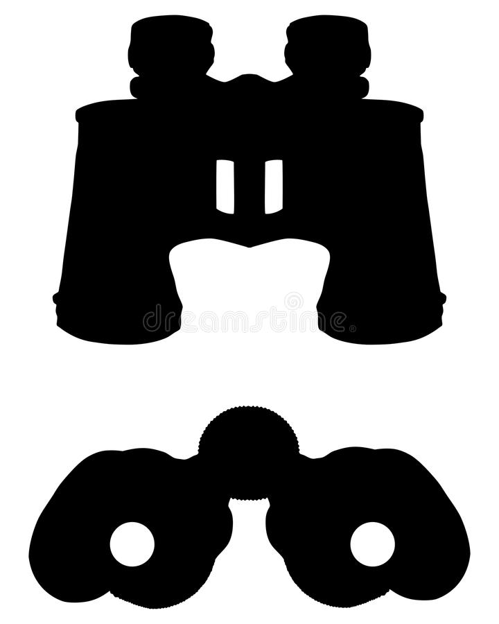 kikaresilhouette vektor illustrationer