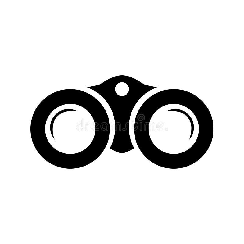 Kikarevektorsymbol Webbplatser eller mobil för rof för kikareillustrationsymbol vektor illustrationer