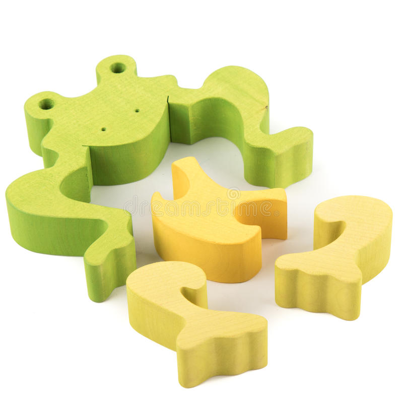 Kikker houten stuk speelgoed royalty-vrije stock fotografie