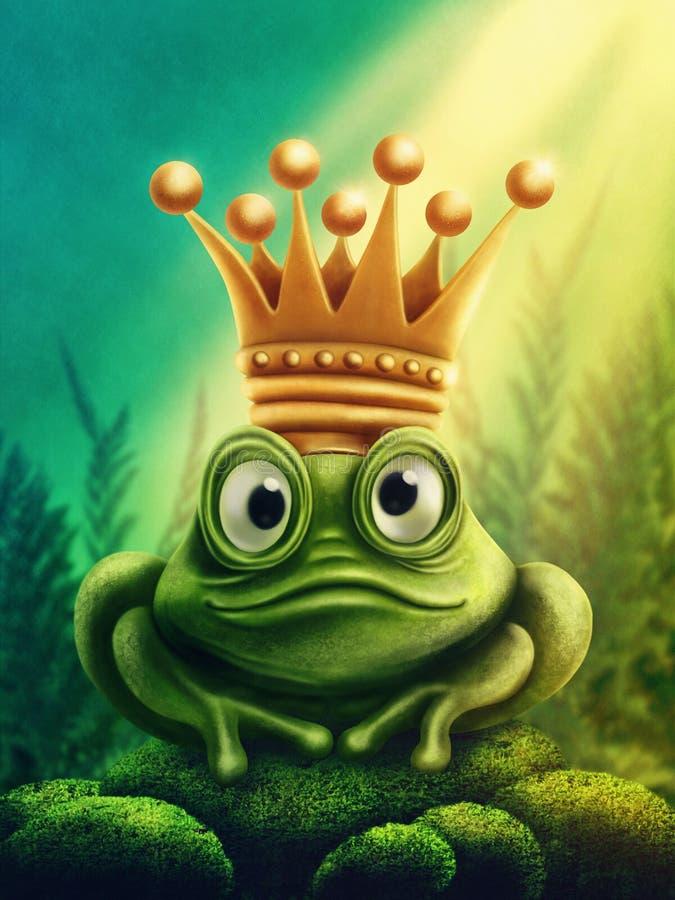 Kikkerprins stock illustratie