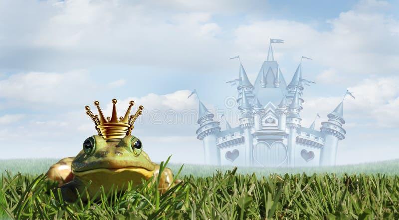 Kikkerprins Fairy Tale As een Magisch Verhaalconcept royalty-vrije illustratie