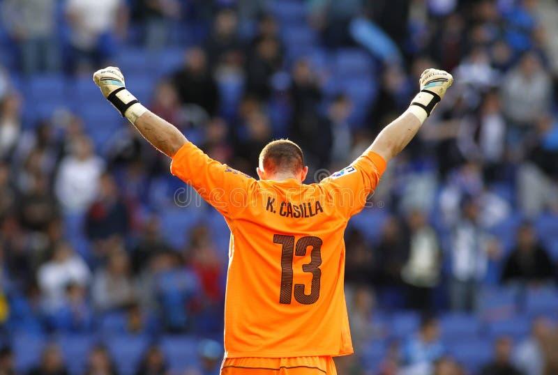 Kiko Casilla del RCD Espanyol fotos de archivo