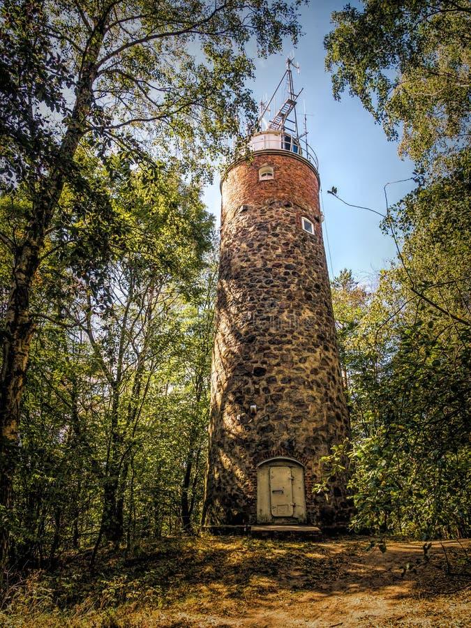 Kikut Lighthouse, Wolin island, Poland stock image
