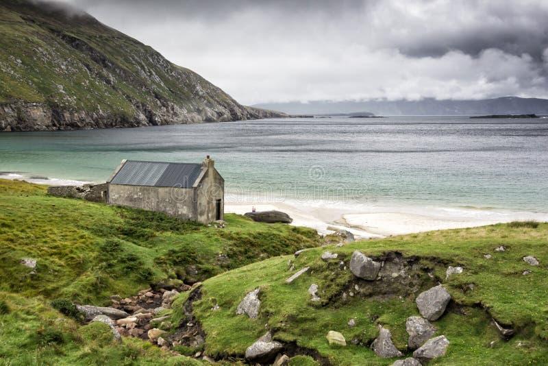 Kil plaża, Achill wyspa zdjęcia stock