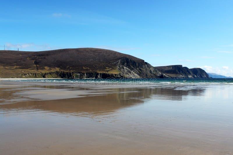 Kil plaża, Achill wyspa, Irlandia obrazy royalty free