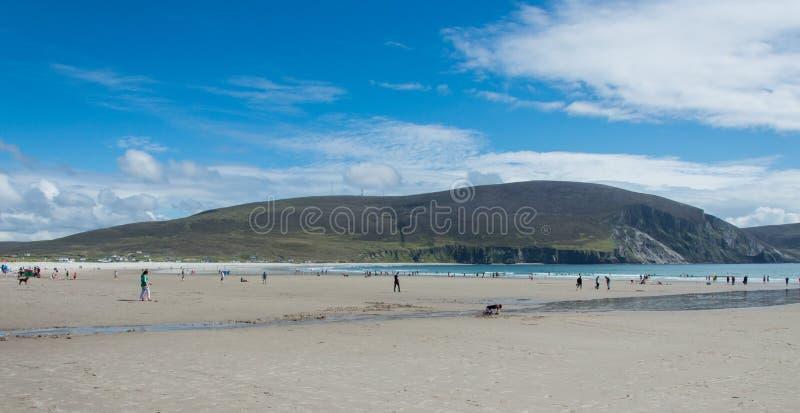 Kil plaża, Achill wyspa, Irlandia zdjęcia royalty free