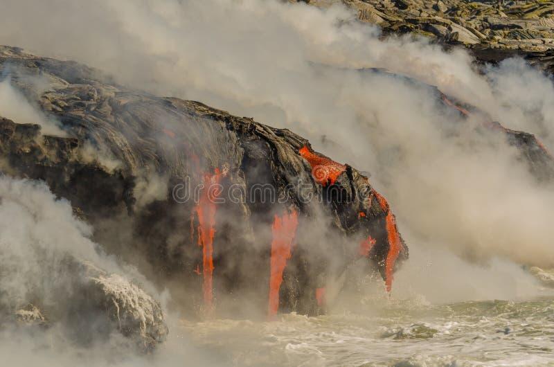 Kilauea火山熔岩流 库存图片