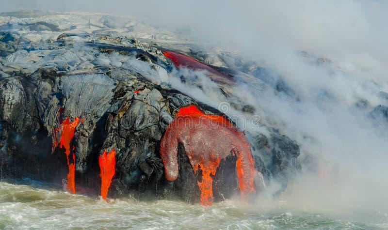 Kilauea火山熔岩流 库存照片