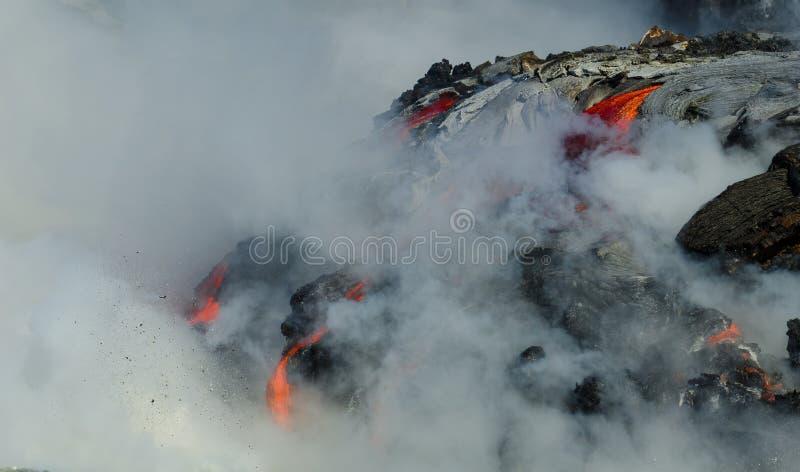 Kilauea火山熔岩流 图库摄影