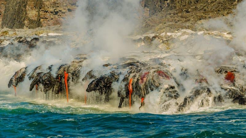 Kilauea火山熔岩流 免版税库存照片