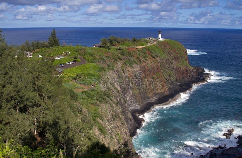 Kilauea灯塔和野生生物保护区,考艾岛,夏威夷 库存照片