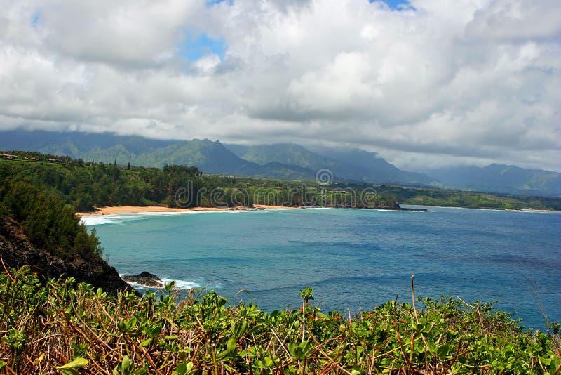 Kilauea coastline on Kauai. Scenic view of Kilauea National Wildlife Refuge on Kauai Island, Hawaii, U.S.A stock images