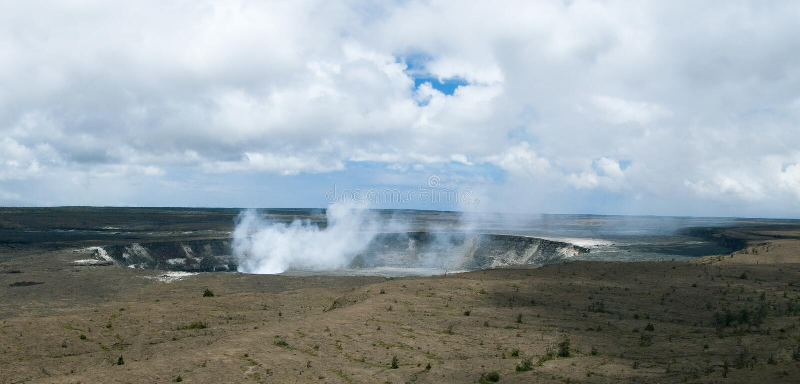 Kilauea Crater stock photo