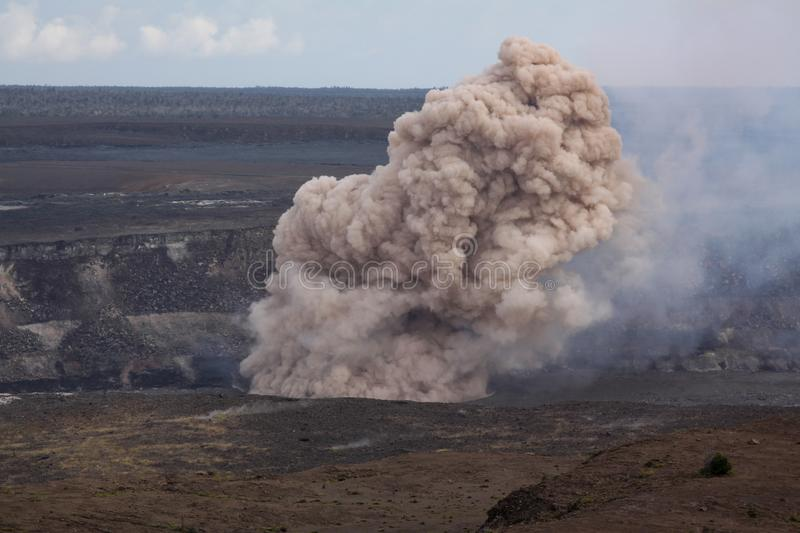 Kilauea explosion stock photography