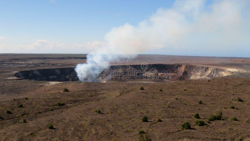 Kilauea fumeux images libres de droits