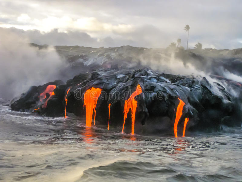 Kilauea Hawaje zdjęcia royalty free