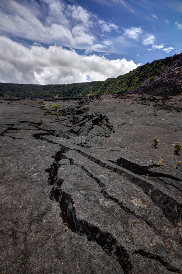 Kilauea Iki ślad zdjęcie stock