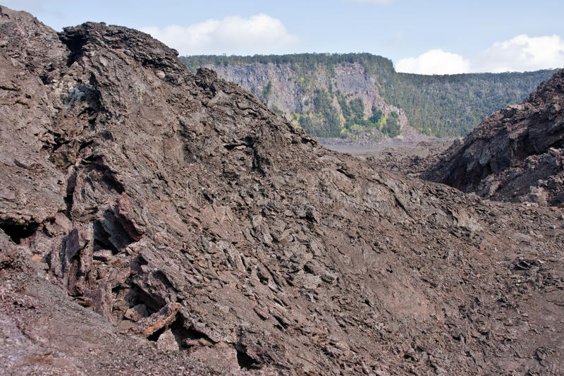 Kilauea Iki Crater. In Hawaii Volcanoes National Park stock images