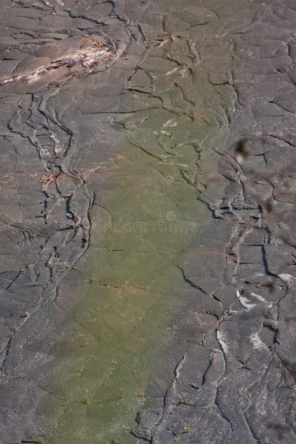 Kilauea Iki Crater Floor. Kilauea Iki Crater in Hawaii Volcanoes National Park stock image