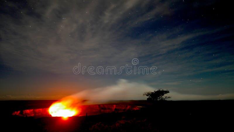 Kilauea Krater lizenzfreies stockfoto