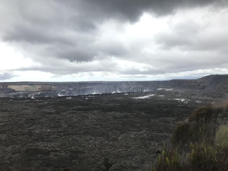 Kilauea-Krater auf der großen Insel lizenzfreies stockfoto