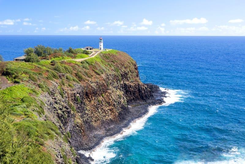 Kilauea latarnia morska na Hawaje obraz stock